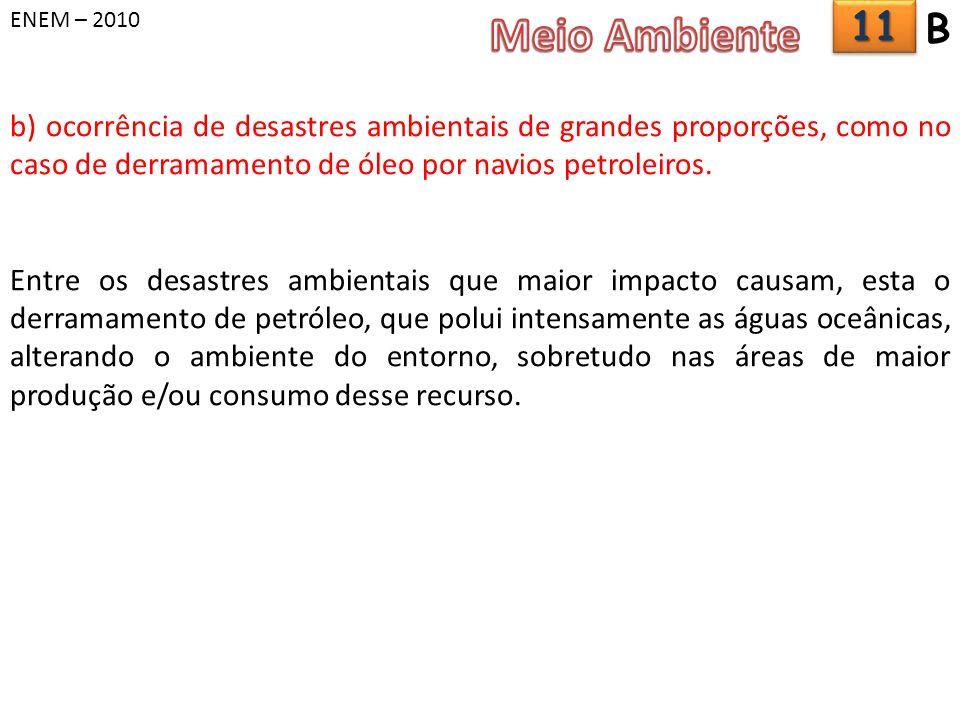 ENEM – 2010 Meio Ambiente. 11. B.