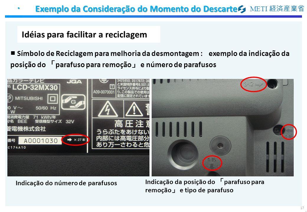 ・ Exemplo da Consideração do Momento do Descarte
