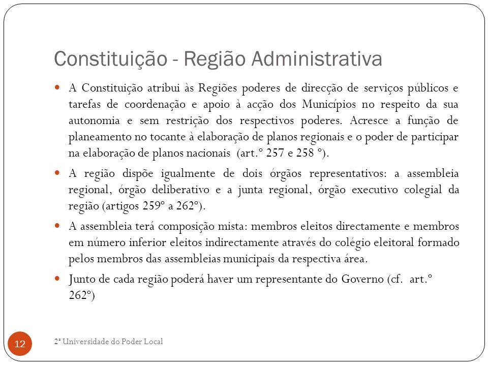 Constituição - Região Administrativa