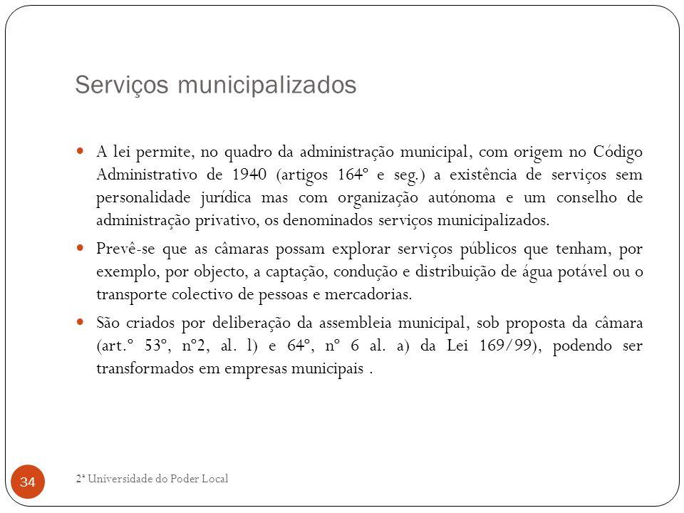 Serviços municipalizados
