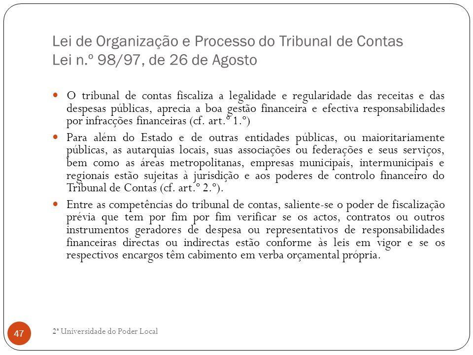 Lei de Organização e Processo do Tribunal de Contas Lei n