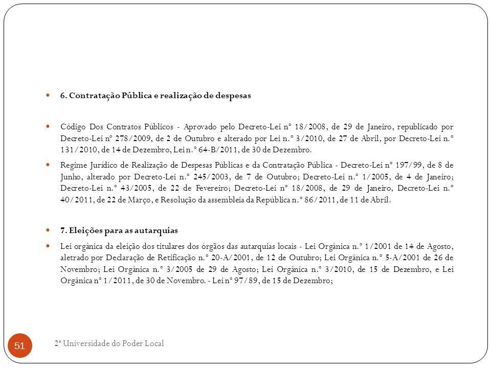 6. Contratação Pública e realização de despesas