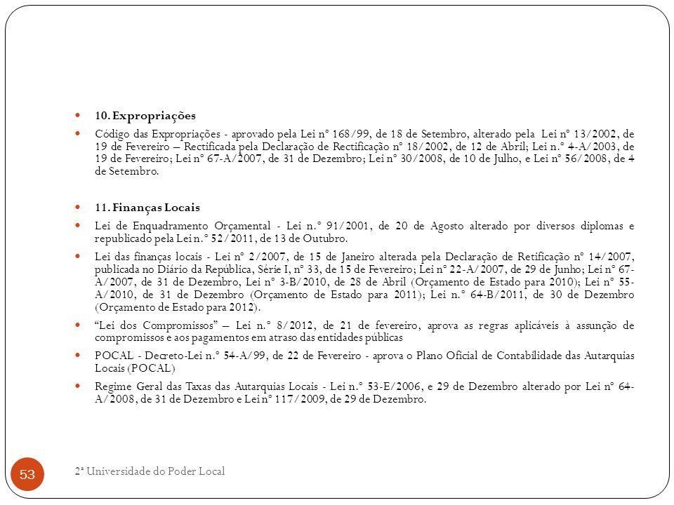 10. Expropriações