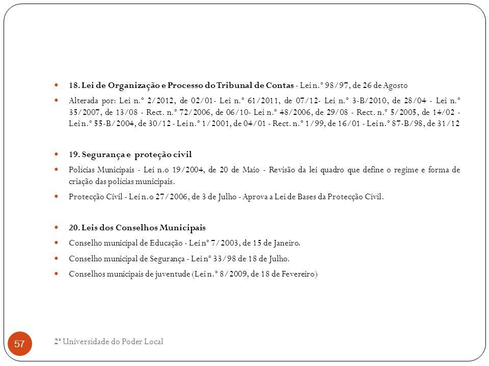 18. Lei de Organização e Processo do Tribunal de Contas - Lei n