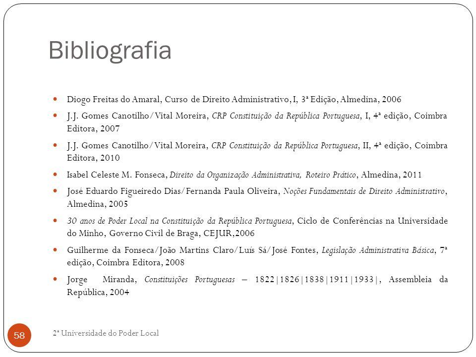 Bibliografia Diogo Freitas do Amaral, Curso de Direito Administrativo, I, 3ª Edição, Almedina, 2006.