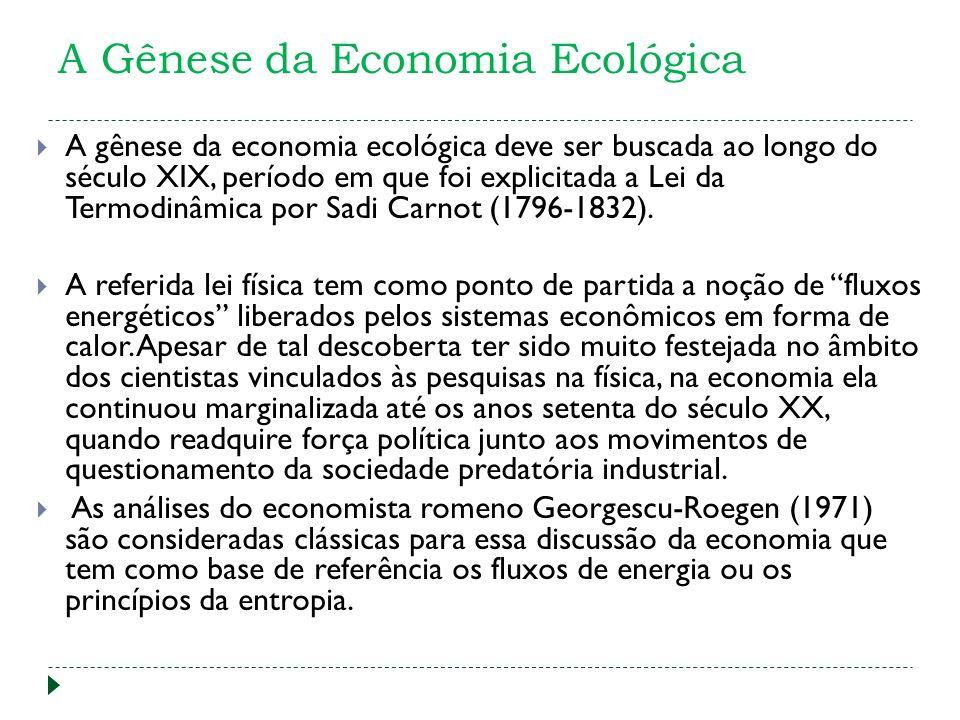 A Gênese da Economia Ecológica