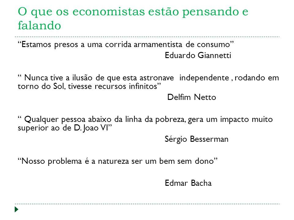 O que os economistas estão pensando e falando