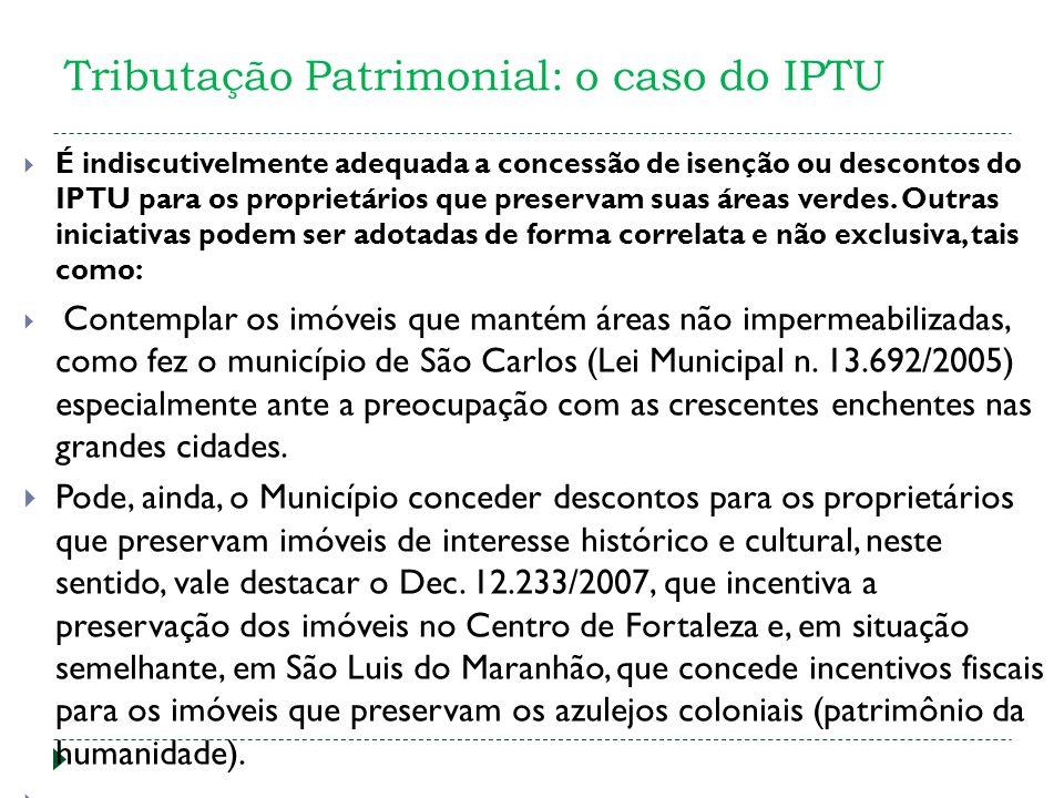Tributação Patrimonial: o caso do IPTU