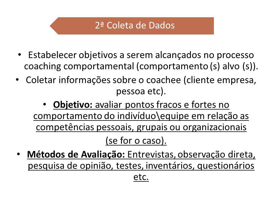 Coletar informações sobre o coachee (cliente empresa, pessoa etc).