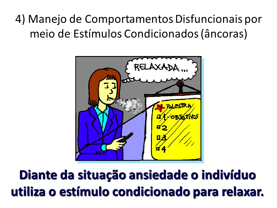 4) Manejo de Comportamentos Disfuncionais por meio de Estímulos Condicionados (âncoras)