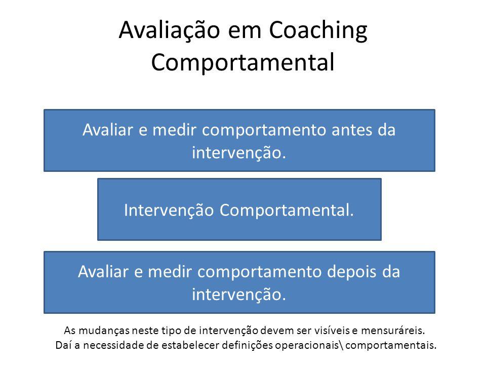 Avaliação em Coaching Comportamental