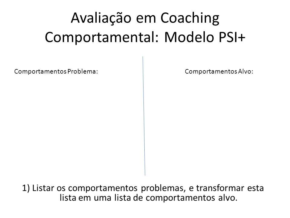 Avaliação em Coaching Comportamental: Modelo PSI+