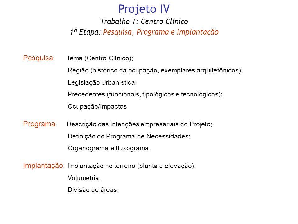 Projeto IV Trabalho 1: Centro Clínico