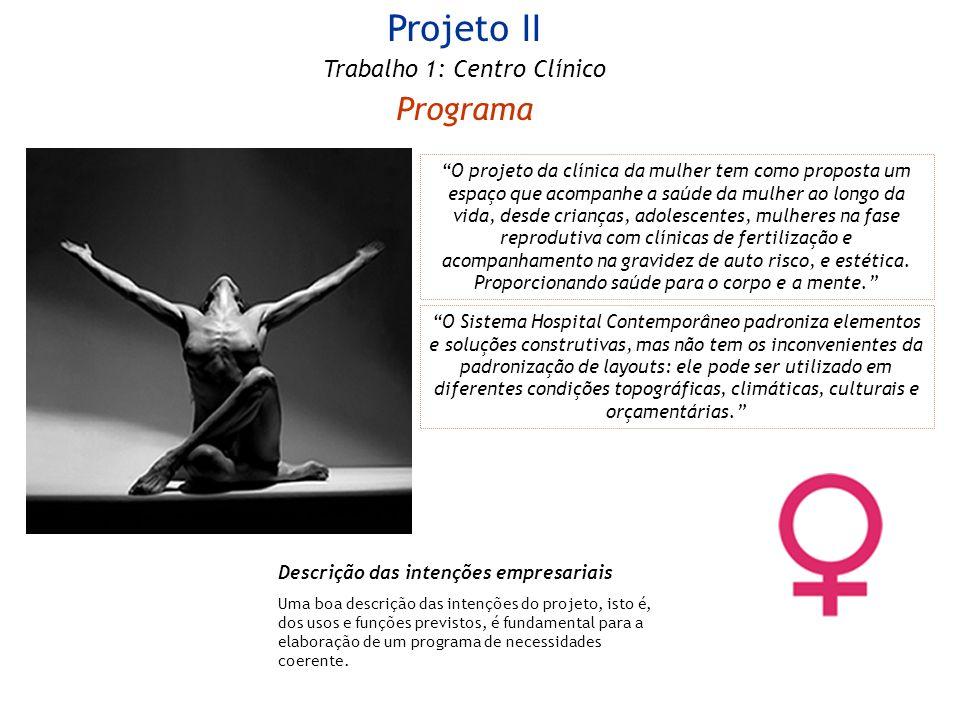 Projeto II Programa Trabalho 1: Centro Clínico