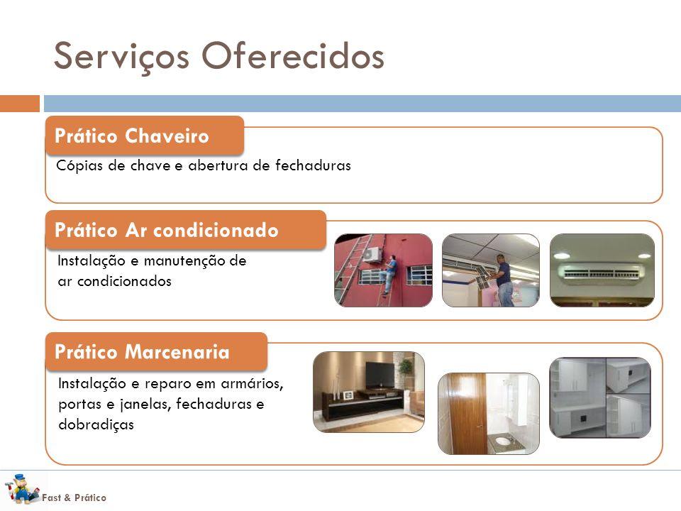 Serviços Oferecidos Prático Chaveiro Prático Ar condicionado