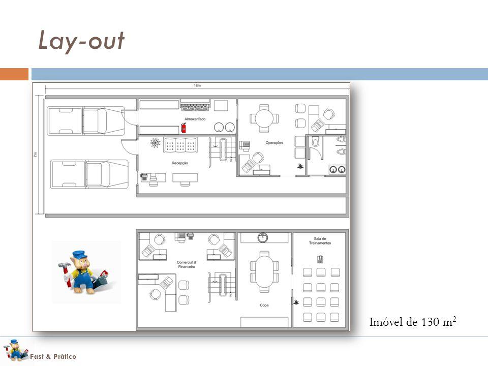 Lay-out Imóvel de 130 m2