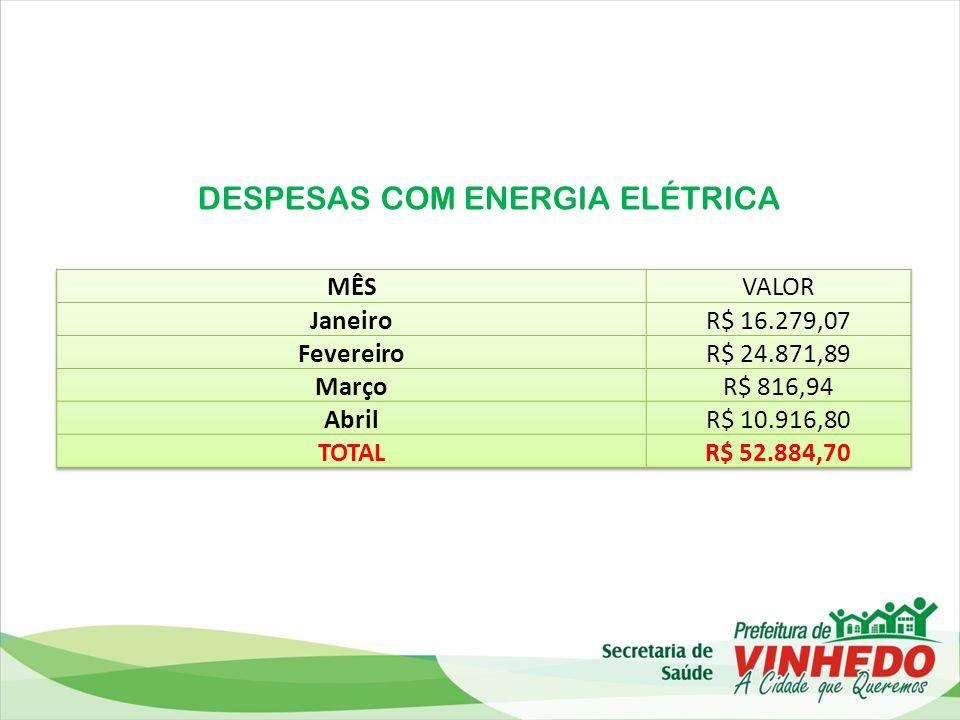 DESPESAS COM ENERGIA ELÉTRICA