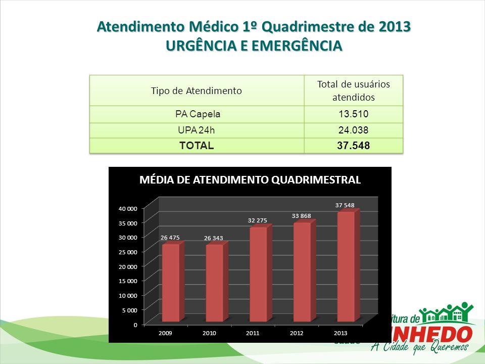 Atendimento Médico 1º Quadrimestre de 2013
