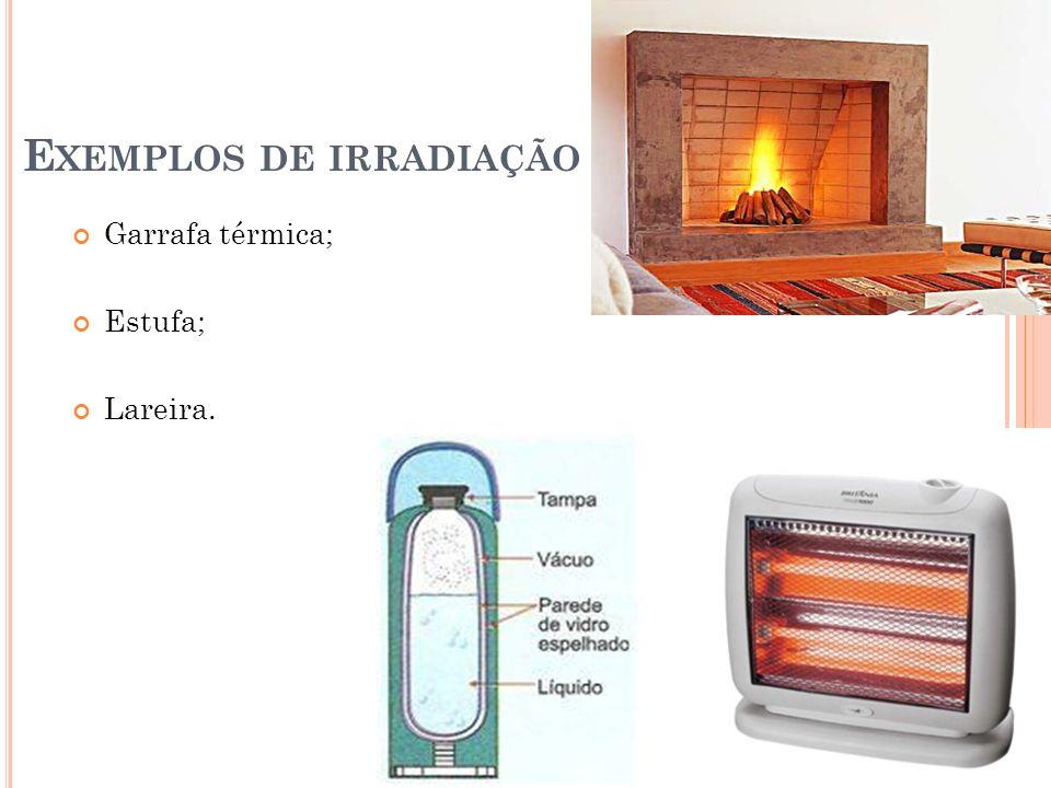 Exemplos de irradiação