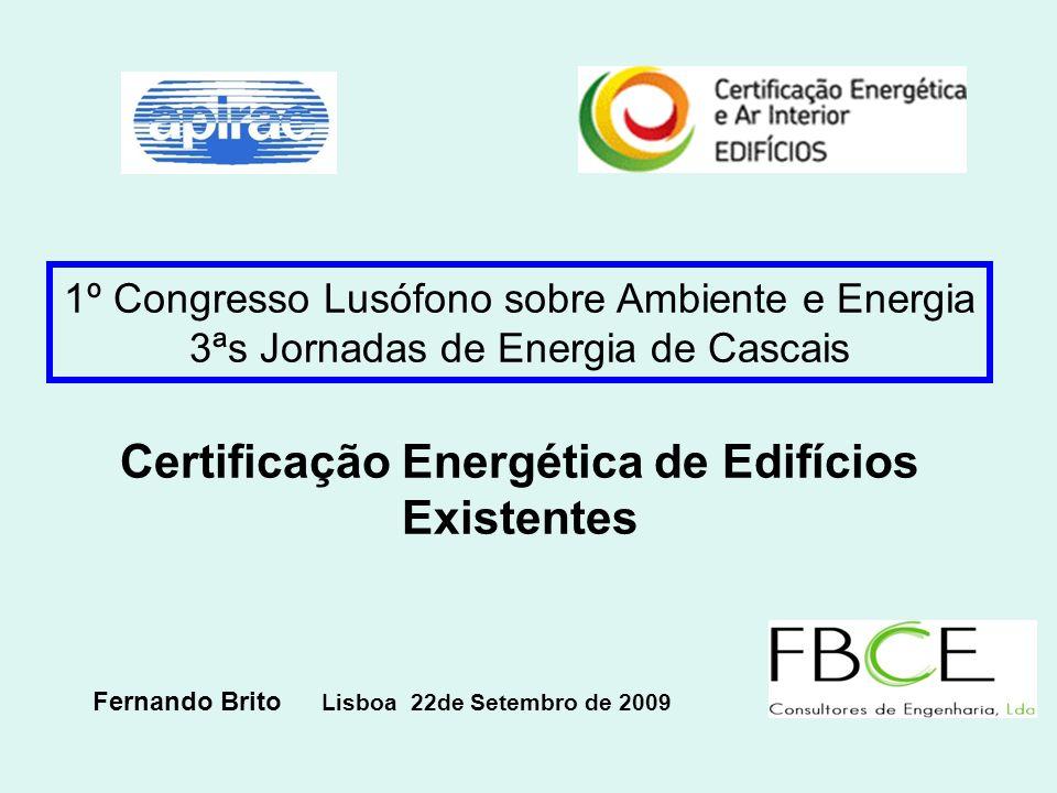 Certificação Energética de Edifícios Existentes