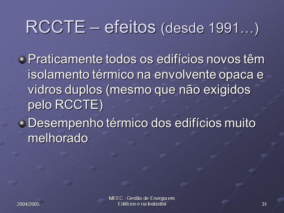 RCCTE – efeitos (desde 1991…)