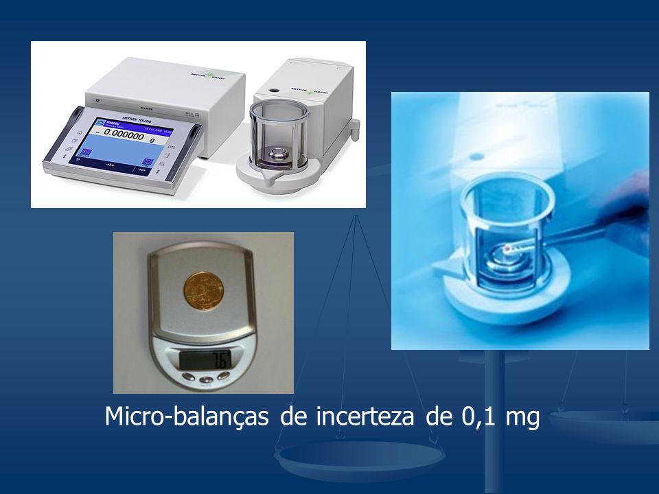 Micro-balanças de incerteza de 0,1 mg