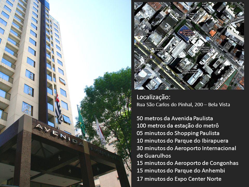 Localização: 50 metros da Avenida Paulista