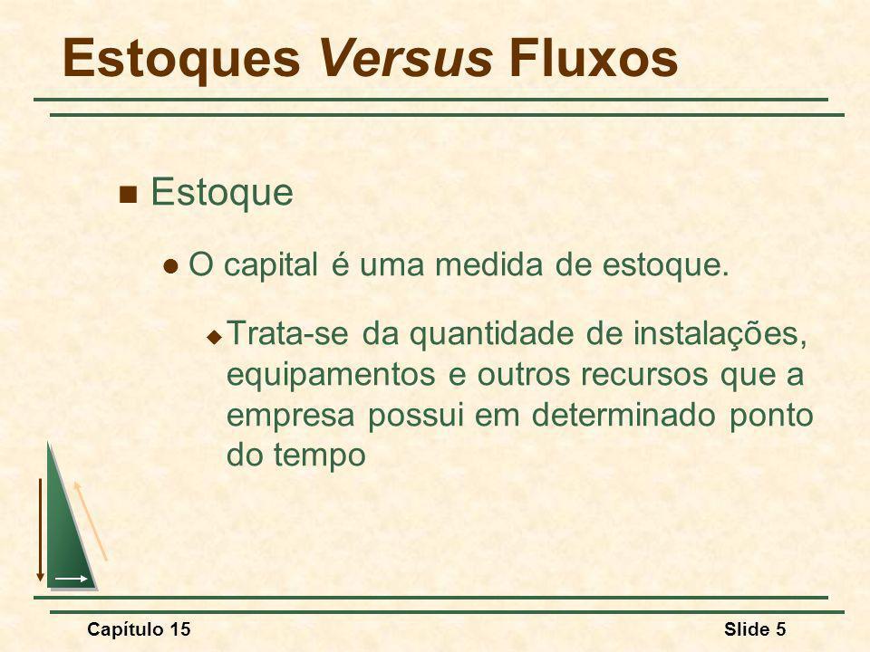 Estoques Versus Fluxos