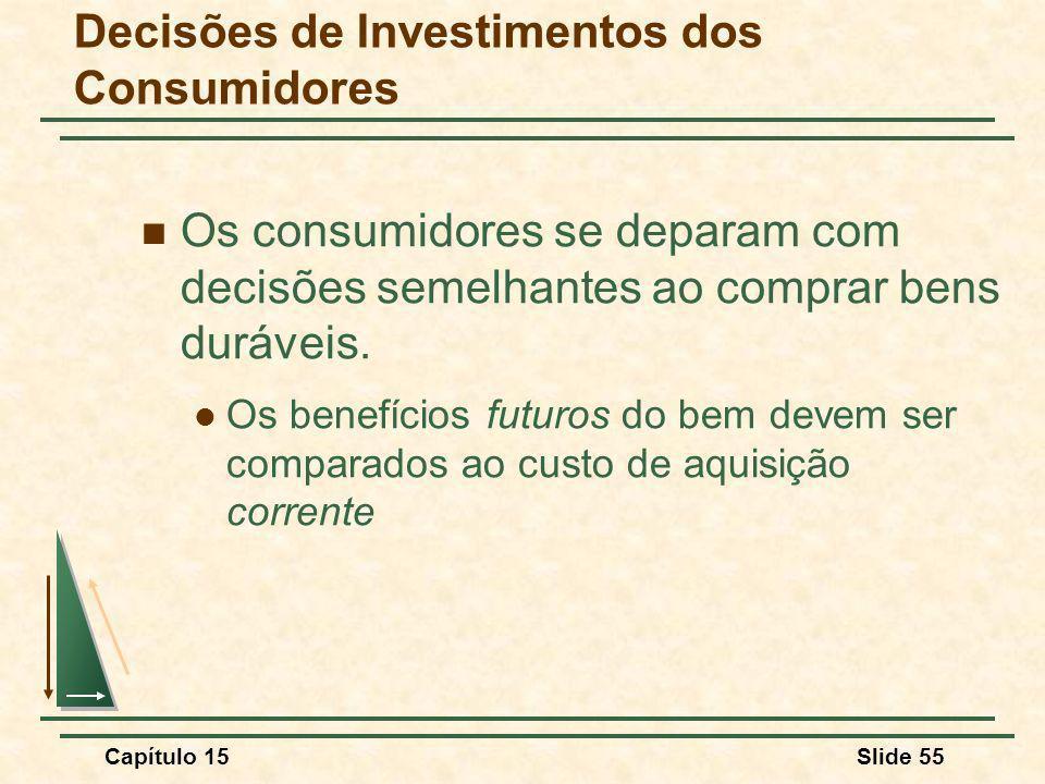 Decisões de Investimentos dos Consumidores