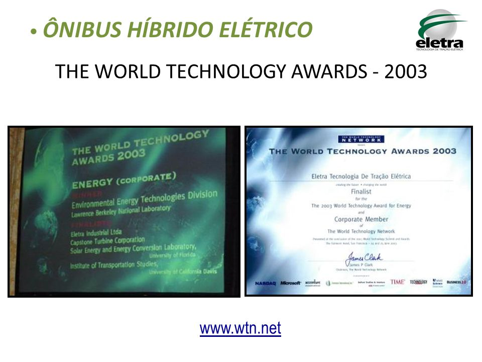 THE WORLD TECHNOLOGY AWARDS - 2003