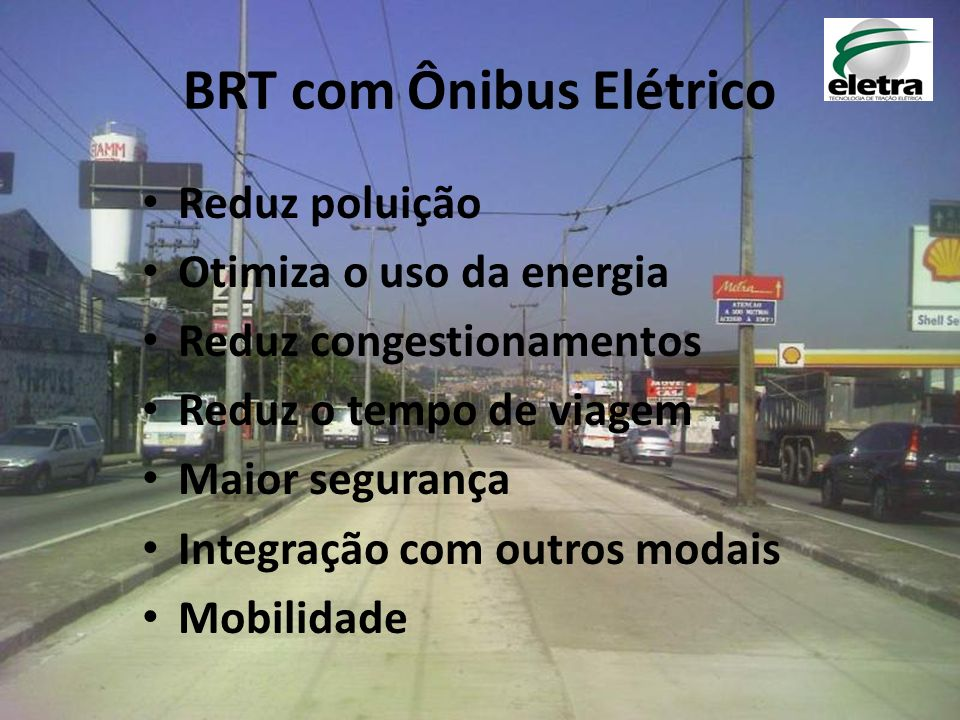 BRT com Ônibus Elétrico