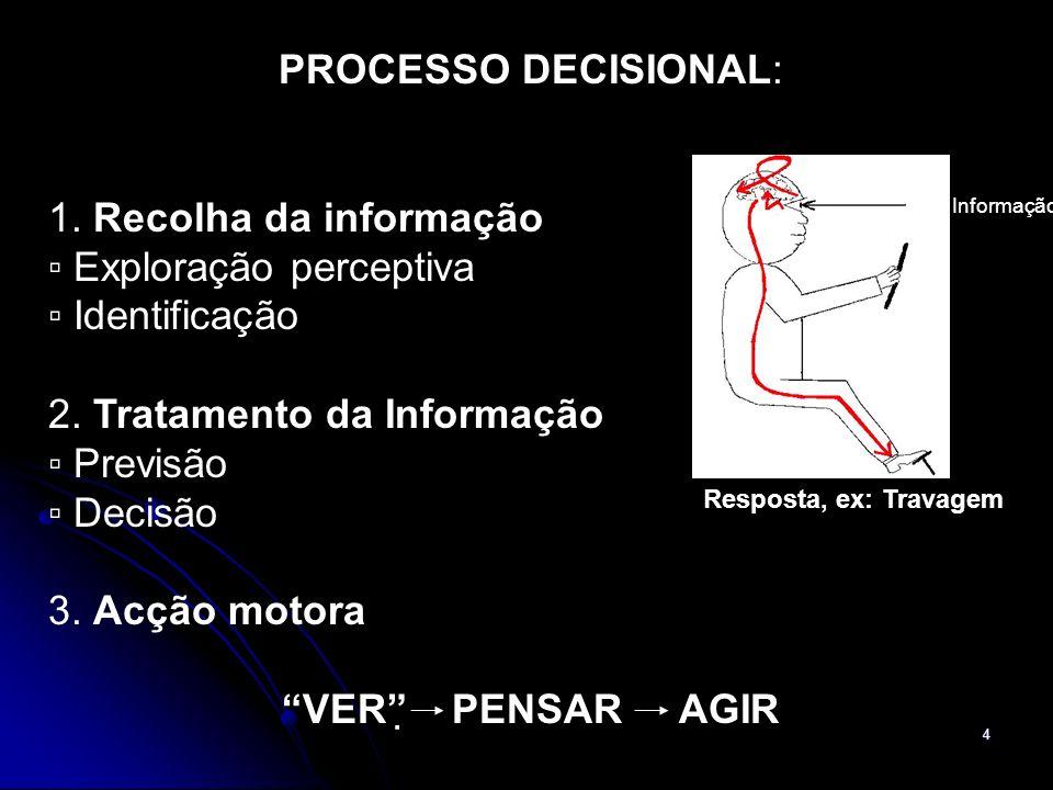 ▫ Exploração perceptiva ▫ Identificação 2. Tratamento da Informação