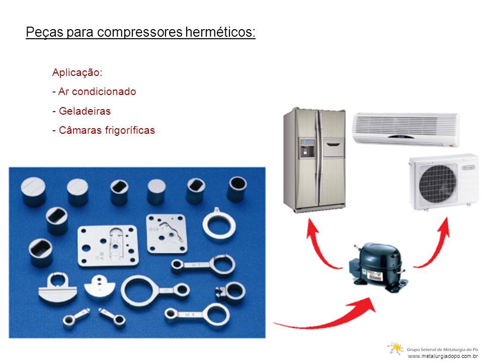 Peças para compressores herméticos: