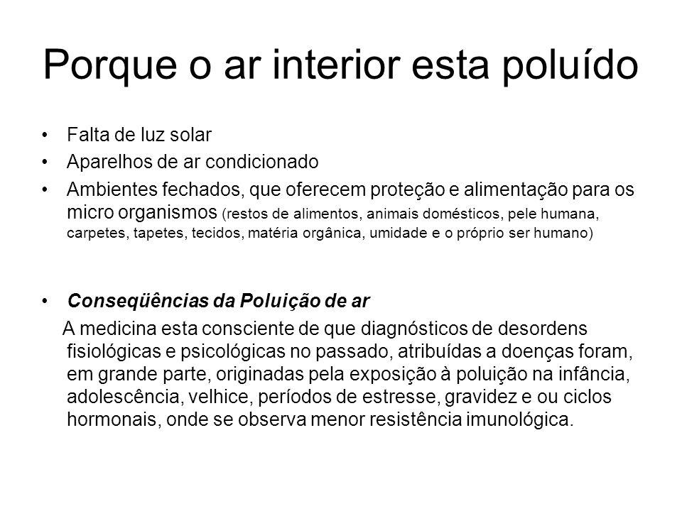 Porque o ar interior esta poluído