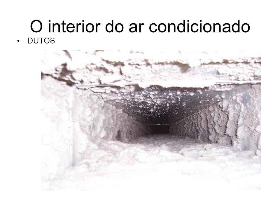O interior do ar condicionado