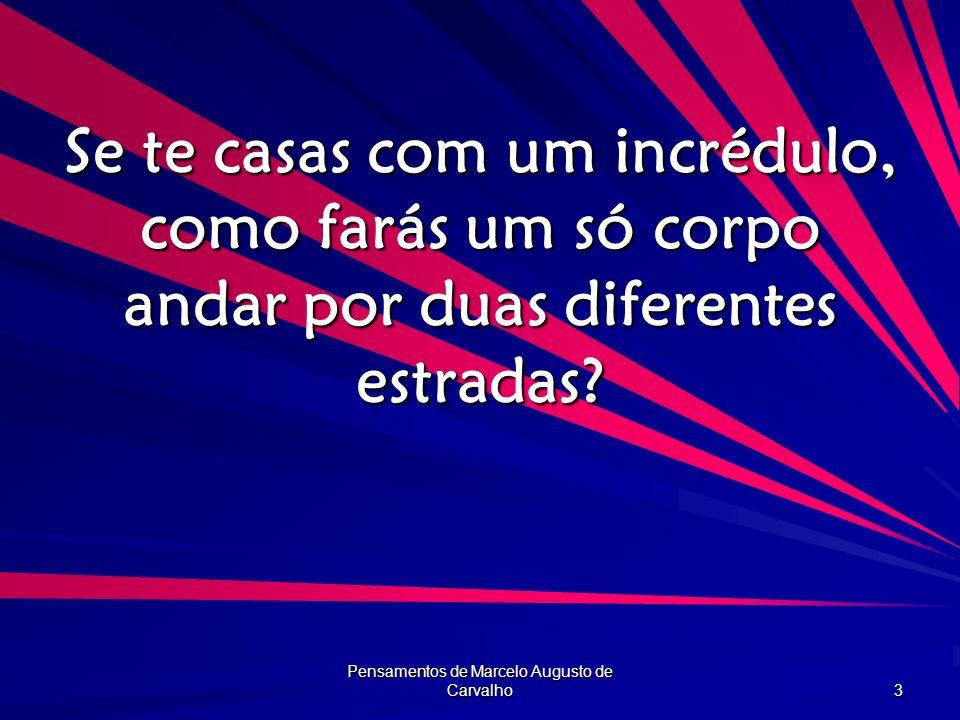 Pensamentos de Marcelo Augusto de Carvalho