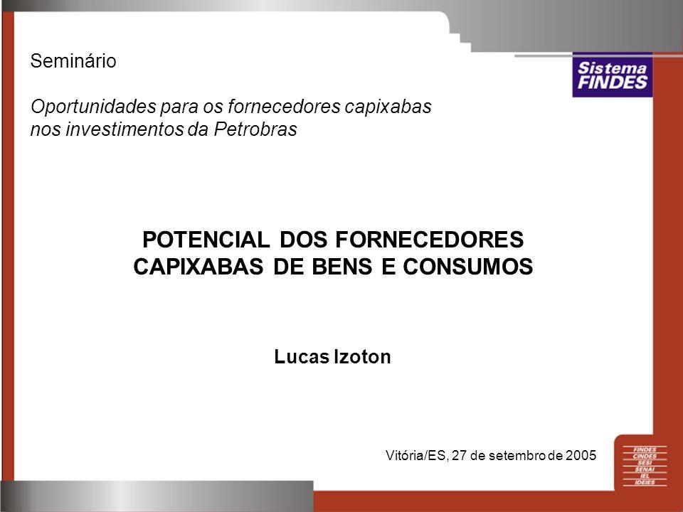 POTENCIAL DOS FORNECEDORES CAPIXABAS DE BENS E CONSUMOS