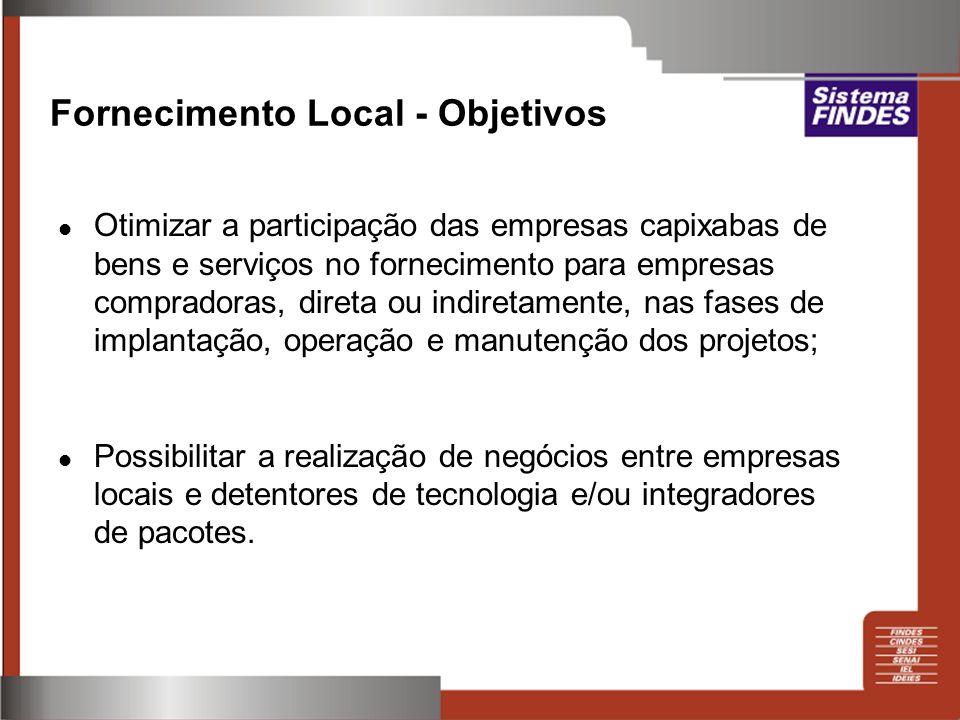 Fornecimento Local - Objetivos