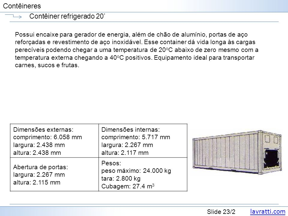 Contêiner refrigerado 20'