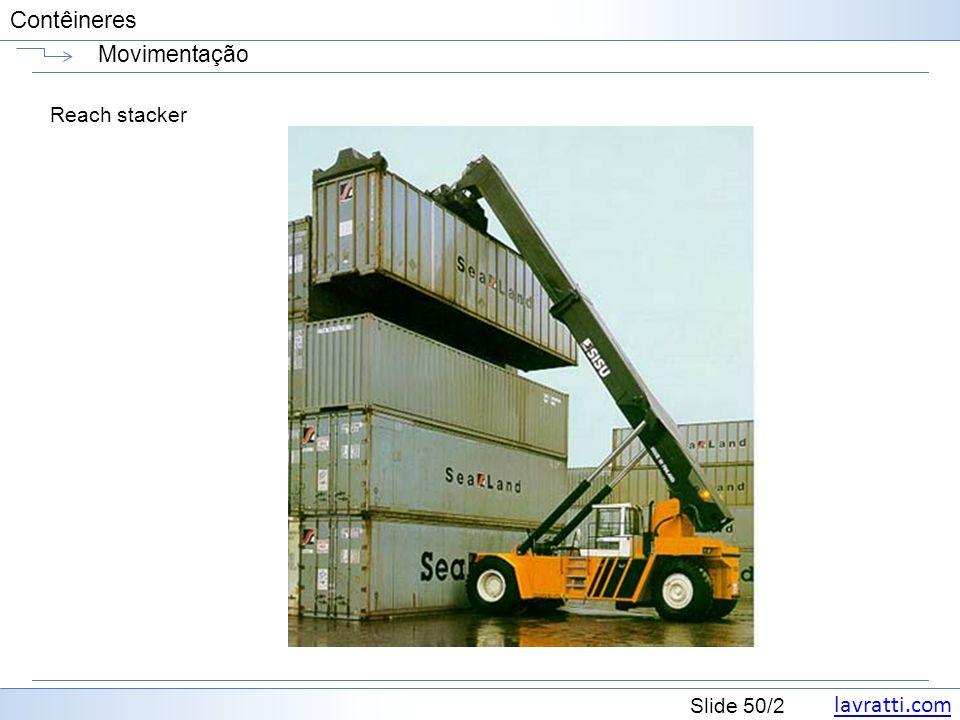 Movimentação Reach stacker
