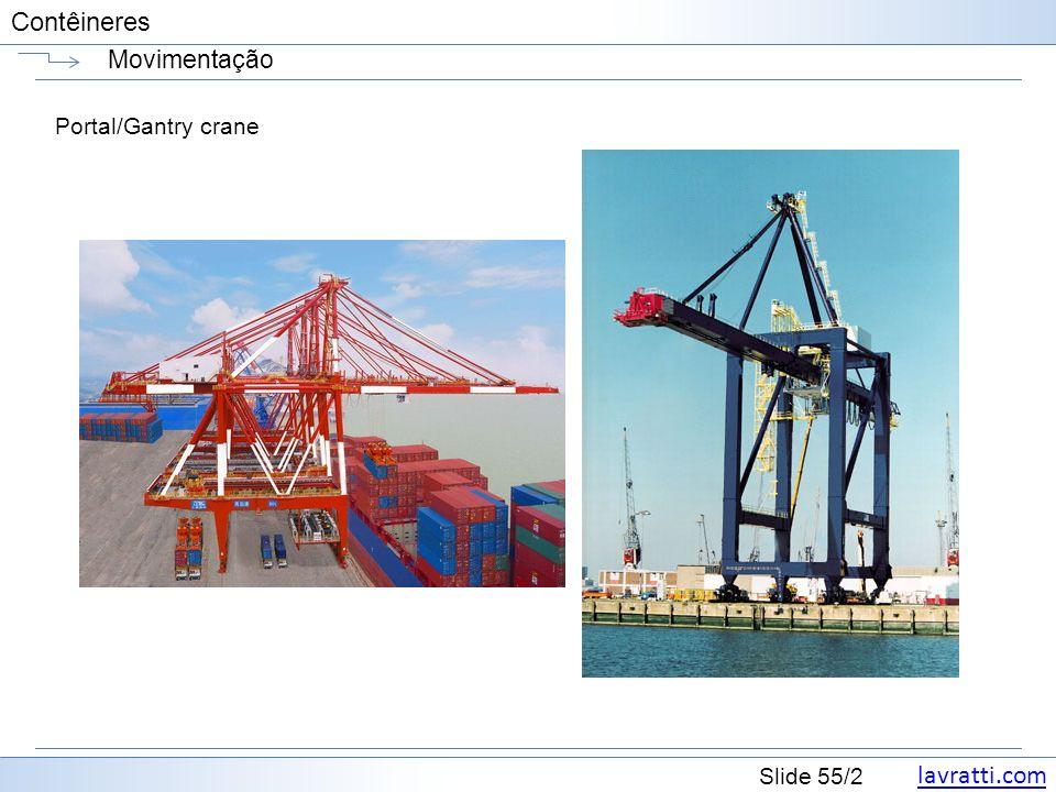Movimentação Portal/Gantry crane