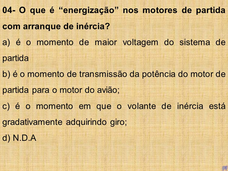 04- O que é energização nos motores de partida com arranque de inércia