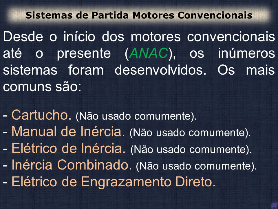 Sistemas de Partida Motores Convencionais