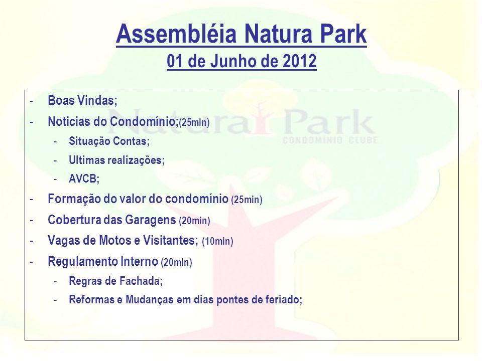 Assembléia Natura Park 01 de Junho de 2012