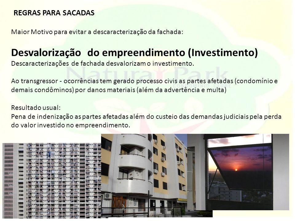 Desvalorização do empreendimento (Investimento)
