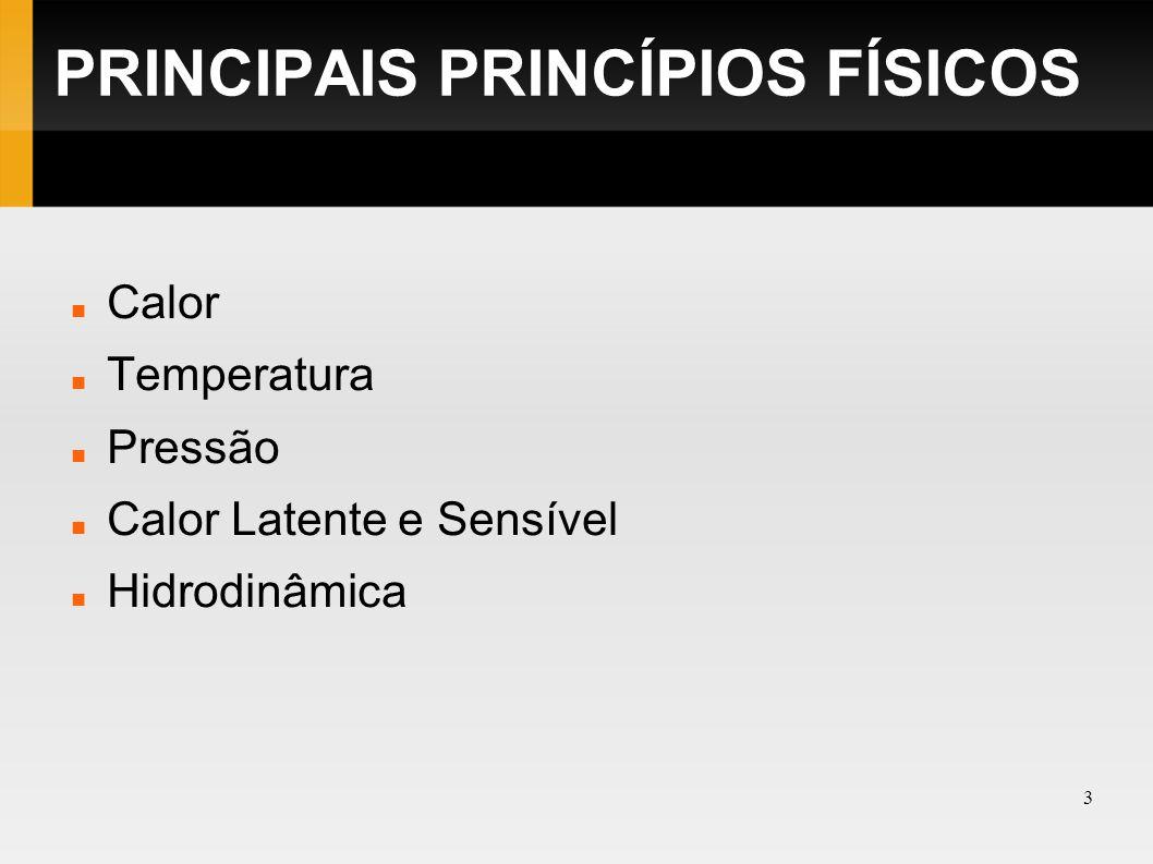 PRINCIPAIS PRINCÍPIOS FÍSICOS