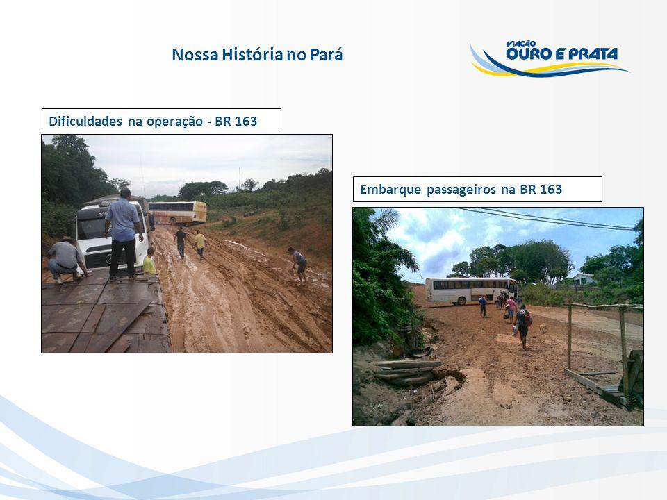 Nossa História no Pará Dificuldades na operação - BR 163