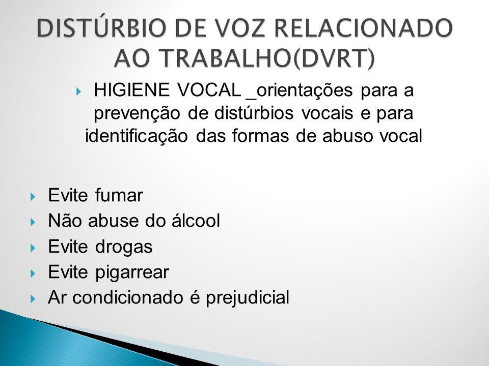 DISTÚRBIO DE VOZ RELACIONADO AO TRABALHO(DVRT)