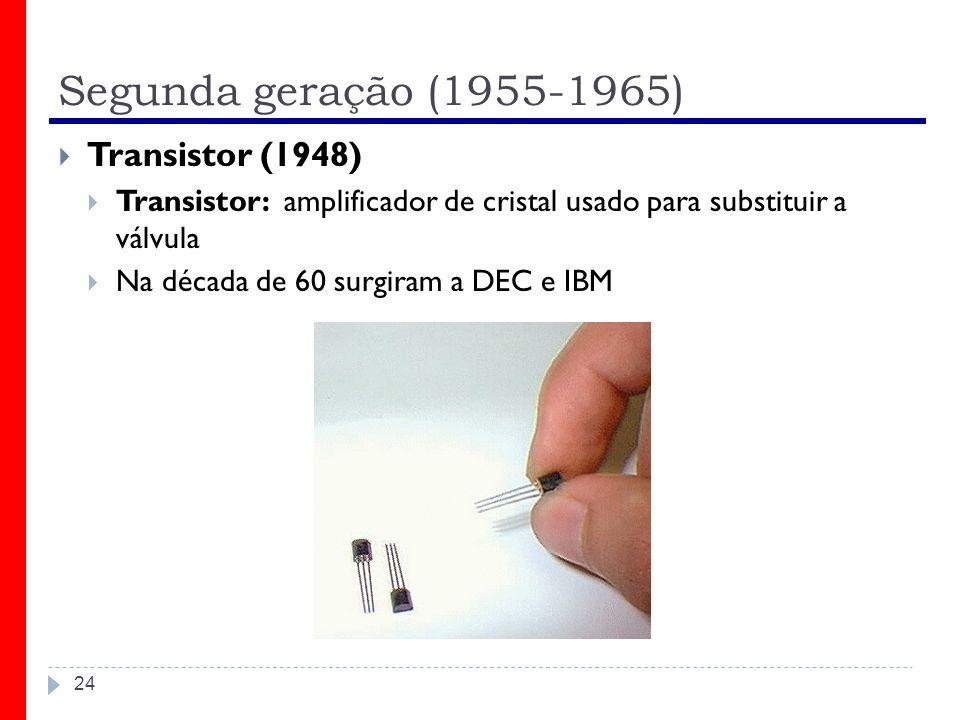 Segunda geração (1955-1965) Transistor (1948)