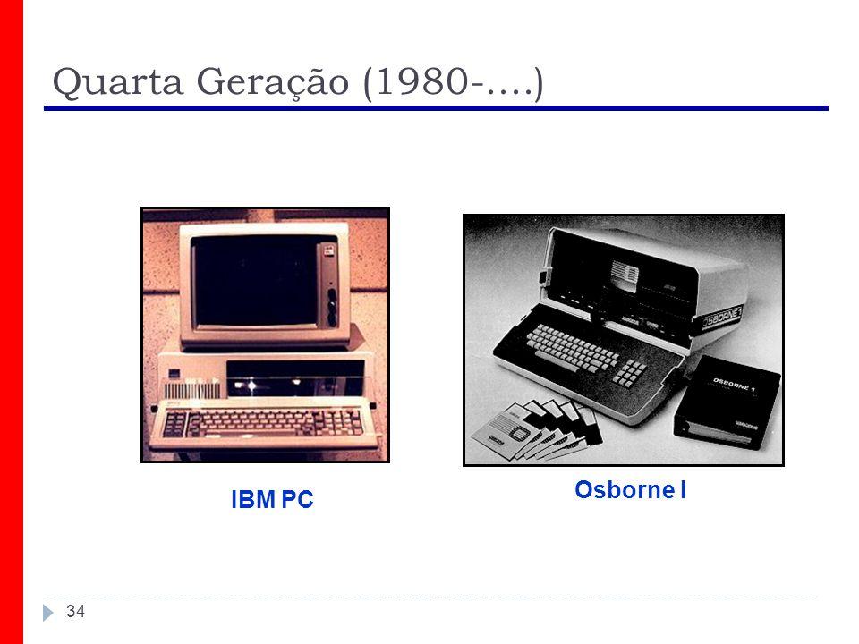 Quarta Geração (1980-....) Osborne I IBM PC